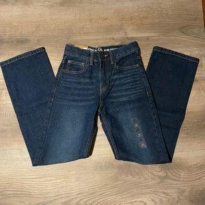 Roebuck & Co. boys' slim straight leg jeans 12S